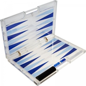 set di backgammon acrilico