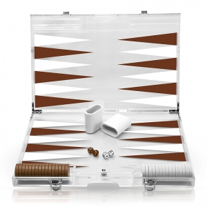 set di backgammon deluxe acrilico